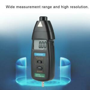 Dt2236b Handheld Digital Photo Tachometer Contact Tach Tool Rpm Tester Meter