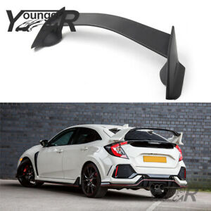 Spoiler For 2016 2019 Honda Civic Hatchback 5 Door R Style Rear Trunk Splitter