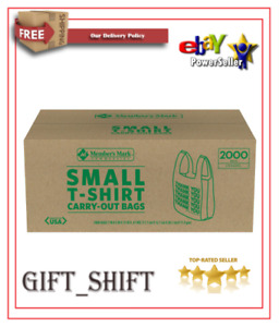 Member s Mark Small T shirt Carry out Bags 2 000 Ct