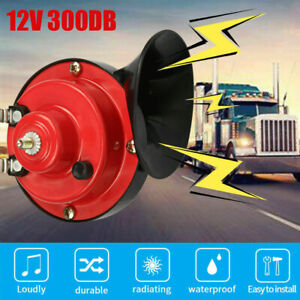12v 300db Loud Train Horn Waterproof For Motorcycles Car Truck Suv Boat Red