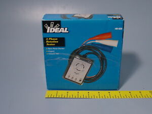 Ideal 61 520 3 Phase Sequence Tester With Color Coded Insulators