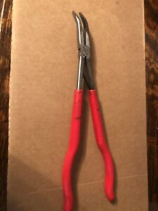 Snap On 415cp Extra Long Reach 35 Degree Bent Needle Nose Pliers Curved Large