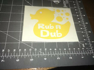 Rub A Dub Rubber Ducky Window Decal Vw Volkswagen Beetle Bug Free Shipping