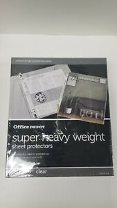Office Depot Super Heavy Weight Sheet Protectors 200 Count 5 0mil Clear