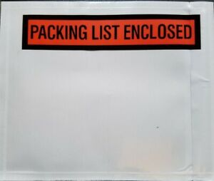 Packing List Envelopes 4 5 x5 5 Invoice Slip Pouch Self Adhesive Shipping Label