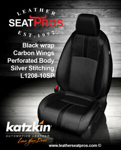 Katzkin Leather Seat Covers 16 20 Honda Civic Sedan Hatchback Ex Ex T Lx Black