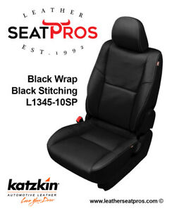 Katzkin Leather Seat Covers Kit 2012 2015 Toyota Tacoma Double Cab Black Stitch