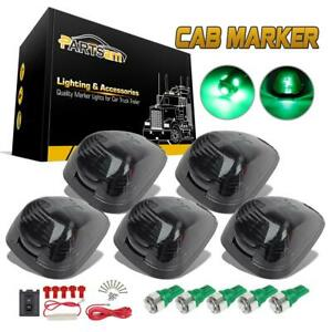 5 Roof Running Cab Marker Smoke Top Lamp green T10 5 5050 smd Led For Ford 99 15