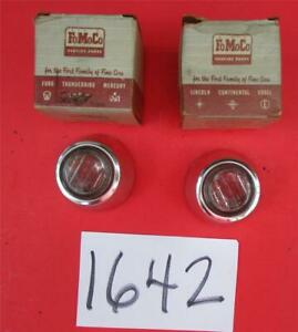 Nos 1962 Ford Galaxie Back up Lamp Lenses Bodies R1642