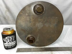 Original Round Associated United Gas Tank Hit Miss Gas Engine Tractor Antique