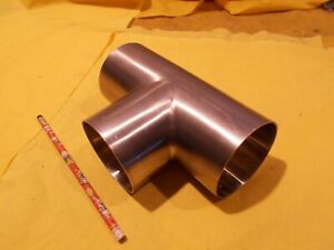 3 Od X 316 Stainless Steel Tee Stock Round Tube Exhaust Pipe 065 Wall