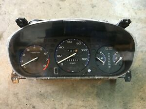 96 97 98 99 00 1998 Honda Civic Instrument Cluster 162k At With Tach