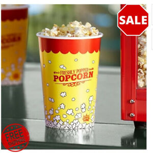 500 pack 46 Oz Round Paper Movie Theatre Concession Popcorn Cups Party Home