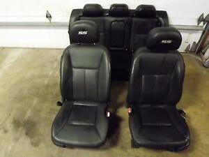09 11 Chevrolet Impala Front Rear Black Leather Seat Left Right Rear Opt Ar9 Oem