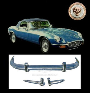 Brand New Jaguar E Type Xke Series 3 Stainless Steel Bumpers