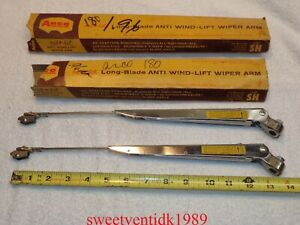Nos Anco Wiper Arms shiny Stainless anco Adjustable Wipers 14 19