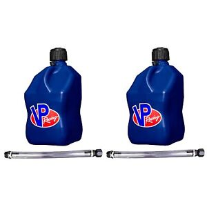 Vp Racing Fuels 5 gallon Liquid Container Blue With 14 Standard Hose 2 Pack