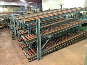 used Hytrol 120 l X 16 w Gravity Conveyor Roller 1 Lot Of 3 Rollers W Stand