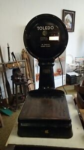 Antique Industrial Age Toledo Large Dial Lollipop Scale Counter Top Postage