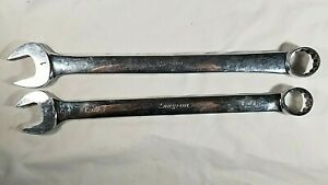 Snap On Lot Of 2 Oex32 1 Inch Oex30b 15 16 Combination Wrench Usa Tools