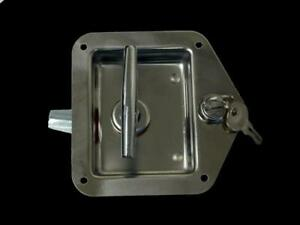 Chrome T Handle Peterbilt Style Tool Box Paddle Lock W Key