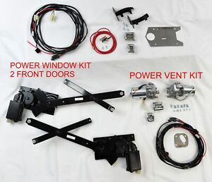 1955 1957 Chevrolet Power Window And Power Vent Kit 2 Dr Wagon Sedan Delivery