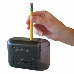 Electric Battery Operated Pencil Sharpener Fast Quiet Home office School