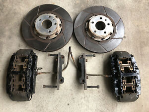90 Audi V8 2bennett Stage 2 Rs Front Brake Kit Brembo 8 Piston Calipers 350mm