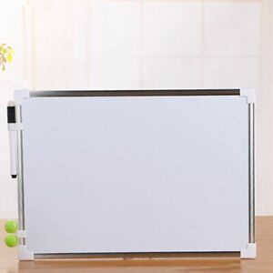 Dry Erase Double Side White Board Magnets Whiteboard Office Eraser Frame Large