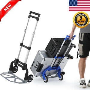 Cart Folding Moving Dolly Sack Collapsible Trolley Push Hand Truck Stair Climber