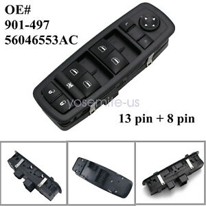 For 2013 2016 Dodge Dart Master Left Driver Window Switch Free Us