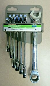 New Pittsburgh Pro 7 Pc Metric Combination Ratcheting Wrench Set 62572