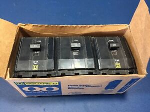 Square D Qob320vh 20a 240v 3p 22ka Circuit Breakers Lot Of 3