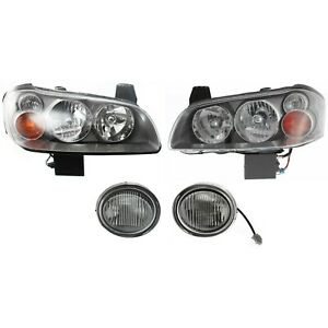 Headlight Kit For 2002 2003 Nissan Maxima Left And Right 4pc