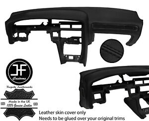 Black Stitch Dash Dashboard Real Leather Cover For Toyota Supra Mk3 86 93 Jf1