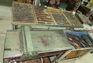 Antique Morgan Sign Line O Scribe Printing Press W wood Metal Letters 1950 s