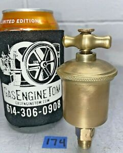 T Handle Automatic Brass Grease Cup Hit Miss Vintage 1 4