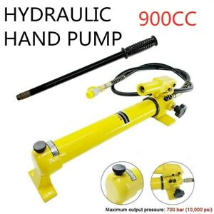 2 Speed Power Pack Hose Coupler Hydraulic Hand Pump 900cc 700 Bar 10 000 Psi