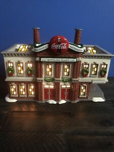 Dept 56 Snow Village Coca-Cola Bottling Plant - 54690 Hand Painted Ceramic