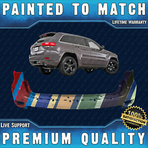 New Painted To Match Rear Bumper Cover Fascia For 2011 2015 Jeep Grand Cherokee