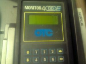 Otc Monitor 4000e Vehicle Diagnostic Tool