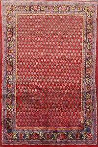 Excellent Vintage Paisley Botemir Handmade Area Rug 3x5 All Over Oriental Carpet