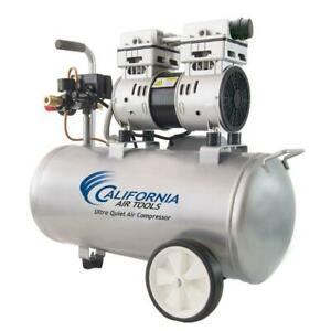 8 Gal Electric Air Compressor 1 Hp Quiet Oil Free Overload Protector Dual Piston