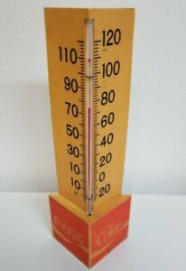 Vintage Coca Cola Coke Triangle Plastic Outdoor Thermometer from the 70s