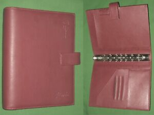 Desk 1 0 Red S Leather Day Timer Planner Flavia Binder Classic Franklin Covey