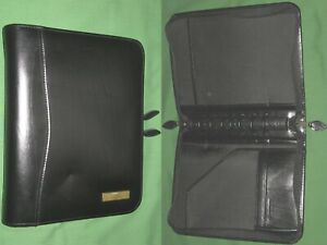 Desk 1 5 Black Leather Day Timer Planner Binder Classic Franklin Covey 8272