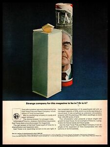 1964 East Texas Pulp And Paper Company Milk Container Vintage Time Inc. Print Ad