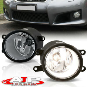 Front Bumper Chrome Fog Lights Lamps Pair Kit For Universal Toyota Camry Corolla