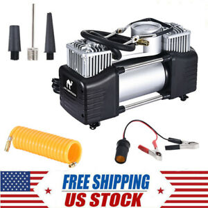 12v 150psi Heavy Duty Double Cylinder Air Pump Compressor Car Tire Tyre Inflator