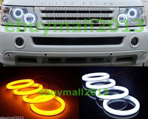 For Range Rover L322 Switchback Turn Signal Cotton Halo Ring Angel Eyes W y Drl